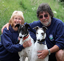 John and Judith Morton, Retired Greyhound Trust - East Midlands, Nottinghamshire