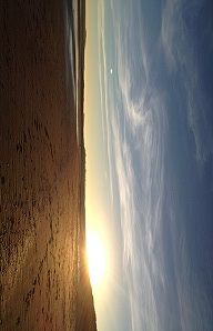Lunan Bay at sunset, Scotland