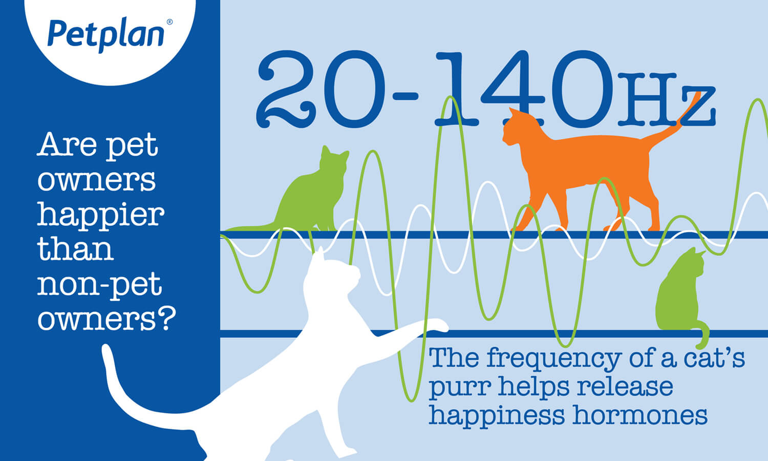 Infographic: 20-140 Hz - the frequency of a cat's purr img
