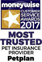 Moneywise Most Trusted Pet Insurance Logo